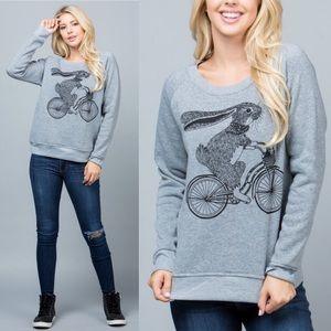 🐇🚲Bunny Rabbit Cycle Sweater Sweatshirt